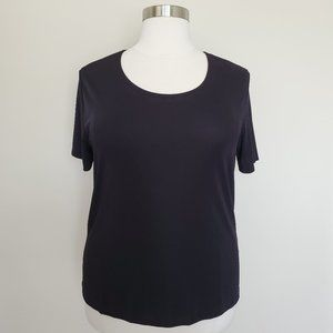 Susan Lawrence Woman Plus Size 2X SS Black Top